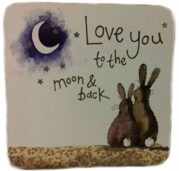 Love You to the Moon & Back Corked Backed Coaster